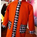 Manteau enfant orange et flowers au gOut