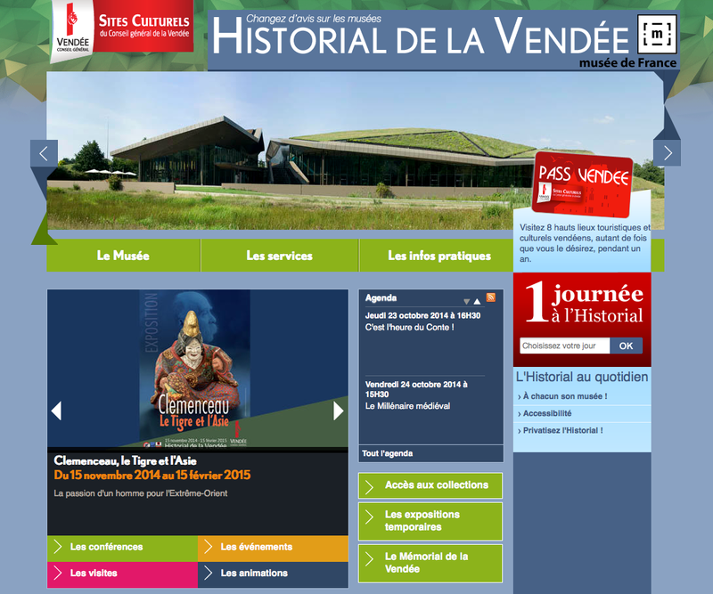 Historial de la Vendee site web