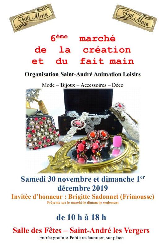 marché créatif St André les Vergers 2019