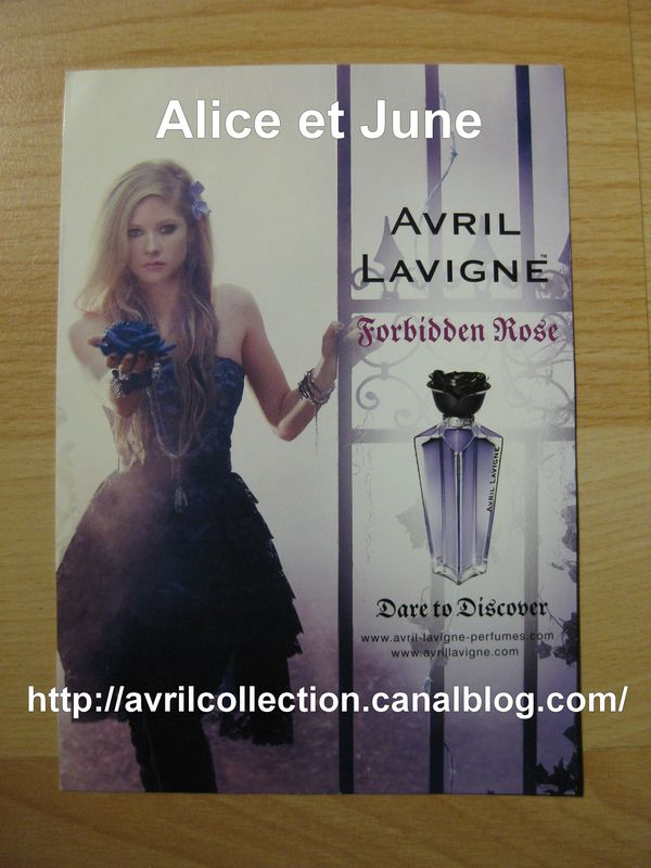 Forbidden Rose Product - Carte promotionnelle