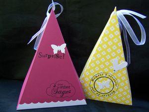 boîte cadeau triangle pt modèle 2