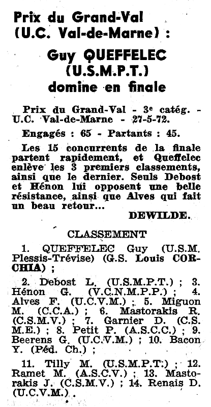 Prix du grand val Guy Queffelec
