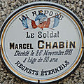 Chabin marcel (mers-sur-indre) + 26/11/1918 châteauroux (36)