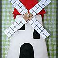 P'tit gâteau moulin fraisier en pâte à sucre pour les 2 ans du p'tit loup