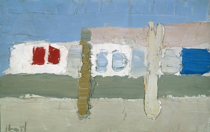 Nicolas de Staël, Grignan, 1953, huile sur toile, 14 x 22 cm, CR 594, Nathan Fine Art Zurich