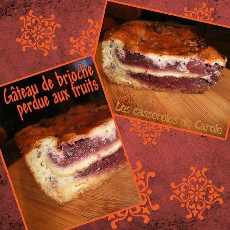 Gâteau de brioche perdue aux fruits (recylcage)(SCRAP)