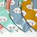 Bavoirs bandanas bébé nuages