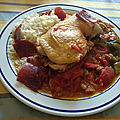 Poulet à la basquaise traditionnel