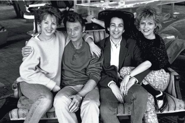 Johnny, Nathalie, Michel et France