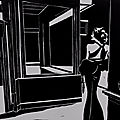 Waiting - Linogravure
