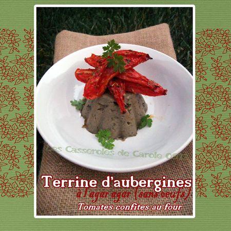 Terrine d'aubergines à l'agar agar tomates confites au four (scrap)