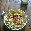 Salade césar au sésames et miel