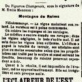 1916 16 septembre : nouvelles du vignoble