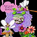 Petit jardin de fleurs birthday