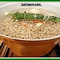 Soupe aux haricots et epinards