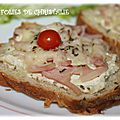 Tartines fromage poulet