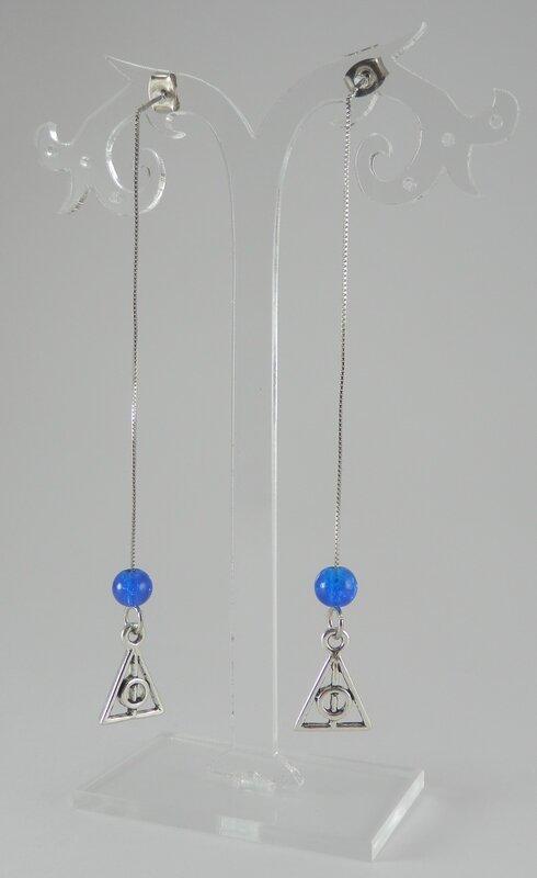 BO HP pendante argenté bleu 1