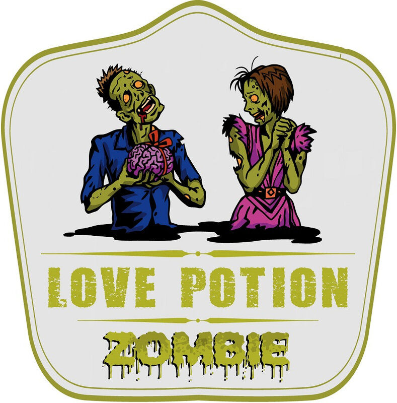 zombie love potion label 1