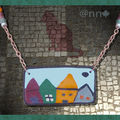 Collier plaque rectangle maison n° 1