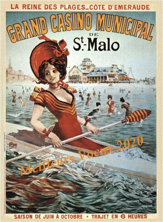 Affiche casinot St Malot Voeux 2020 Carré des Canotiers