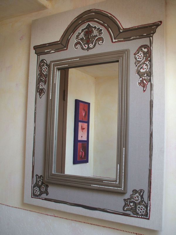 tableau trumeau trompe l 39 oeil recup broc. Black Bedroom Furniture Sets. Home Design Ideas