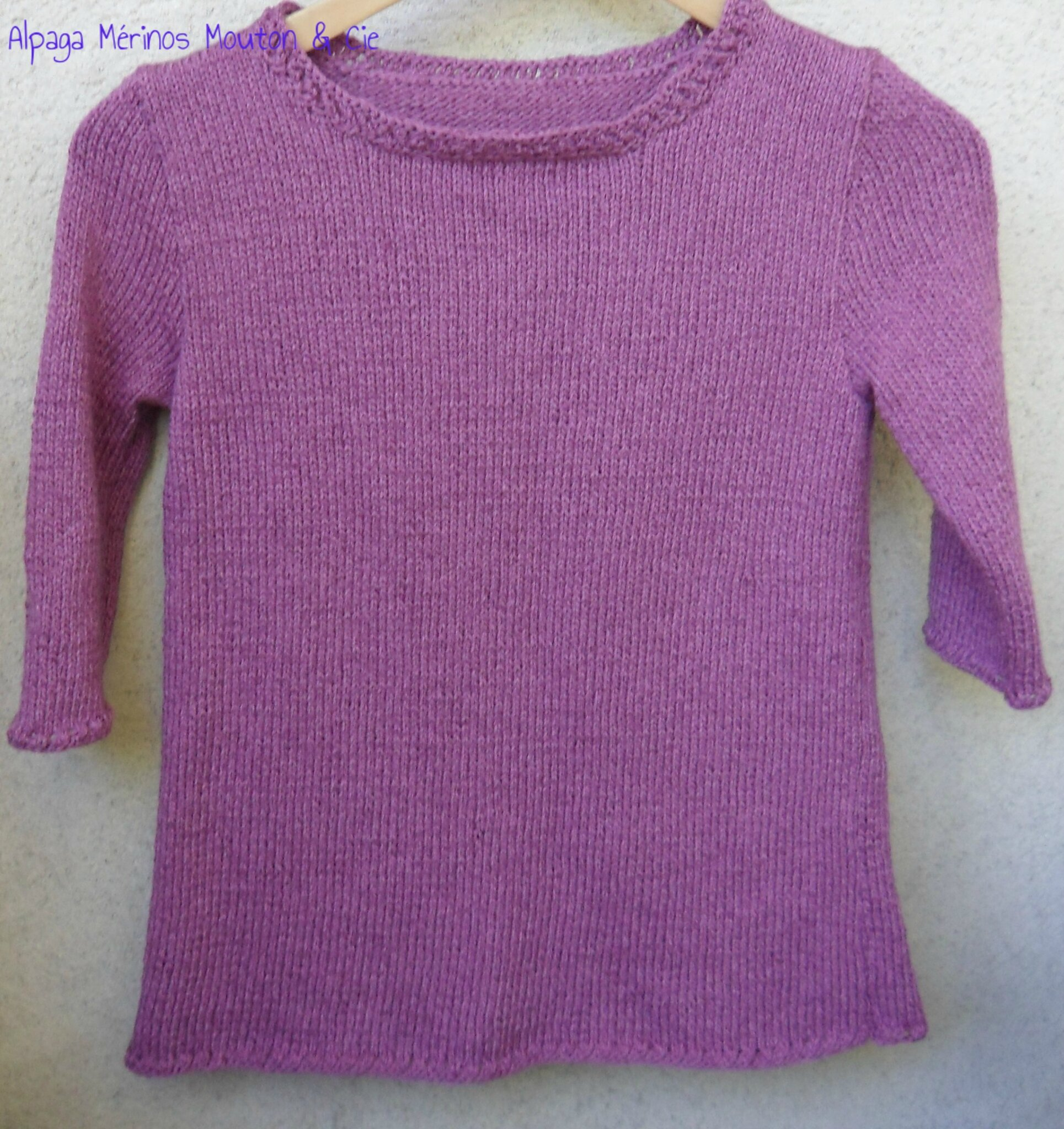 Pull printemps manches 3/4