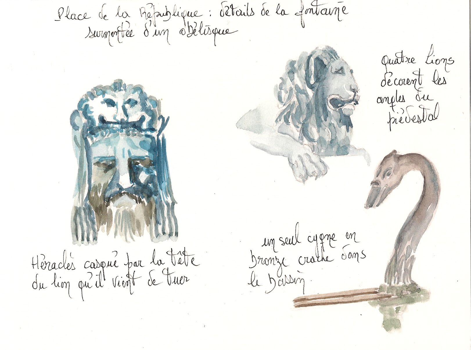Arles : Fontaine de l'obélisque