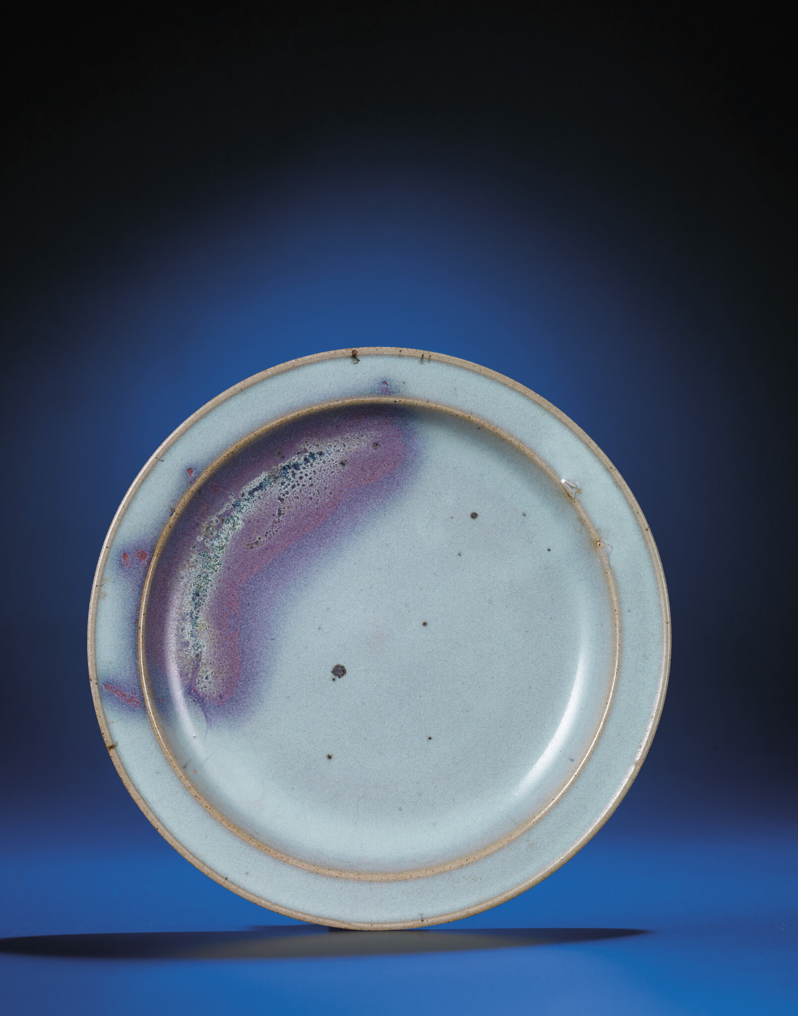 A purple-splashed Jun-glazed dish, Jin dynasty (1115-1234)