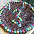 Gâteau au chocolat pour un anniversaire