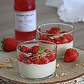 Panna cotta facon tarte aux fraises
