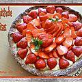 Tarte pistache fraises