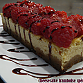 Cheesecake individuel, spéculoos framboises fraîches