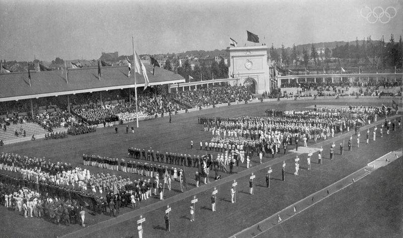 JO 1920 Anvers Cérémonie d'ouverture Photo site Olympic R