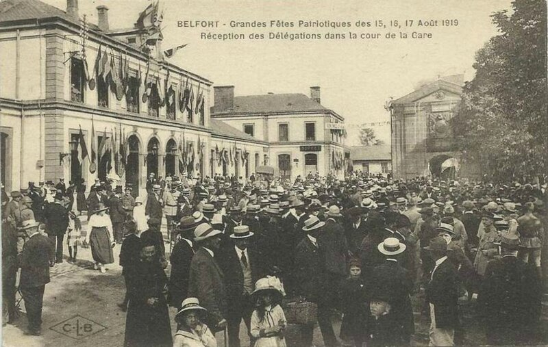 CPA Belfort Fêtes patriotiques 1919