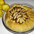 Tarte rustique aux pommes et aux prunilles