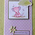 Des cartes naissance pour fille