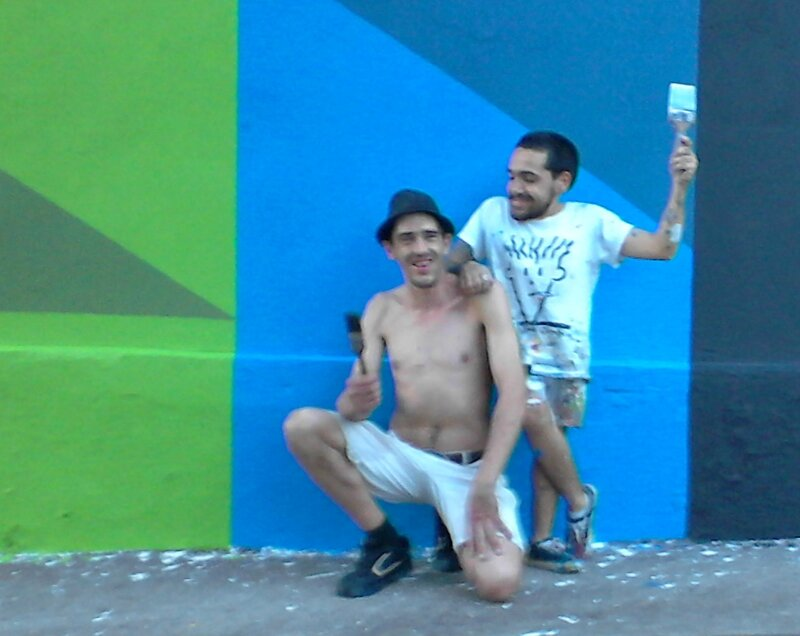 steet art rue du balcon 3 artistes