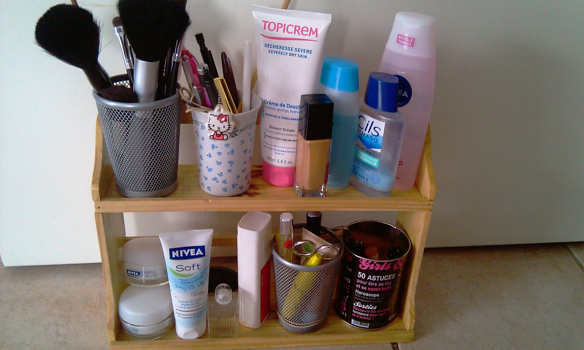 mon rangement make up / astuces gain de place - le blog de glossing