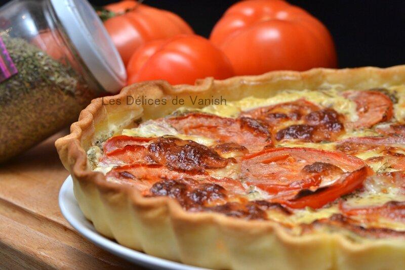 tarte thon tomate, creme avoine, creme vegetale, sans plv