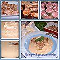 Filet mignon de porc et sa sauce crèmeuse au camembert, un délice !