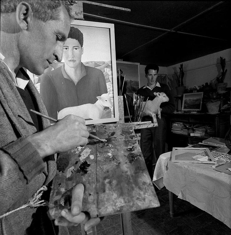 Photo Doisneau Portrait de Robert Montjustin avril 1959 BD - Copie