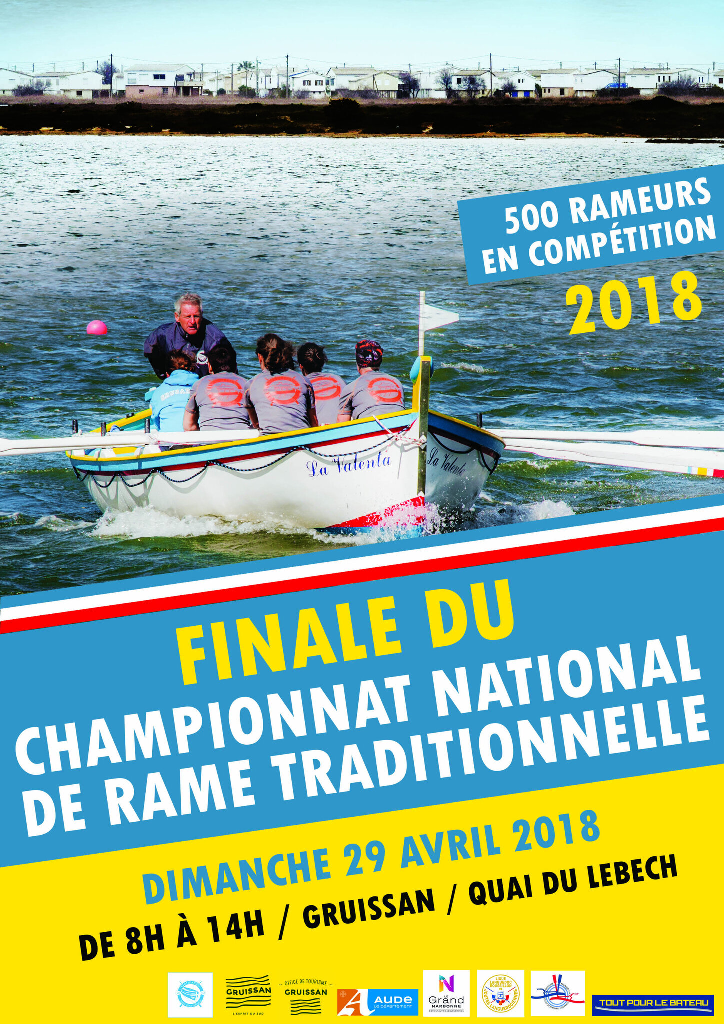 RAME TRADITIONNELLE - CONVOCATION Pour le 28 Avril 2018 - Championat National Gruissan + Tirage
