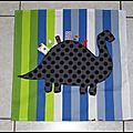 Serviette de table enfant dinosaure