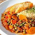 Poulet aux légumes et aux épices