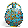 A cloisonné enamel 'dragon' moonflask, ming dynasty, 16th century