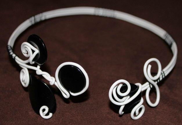 parure (50) blanc-noir