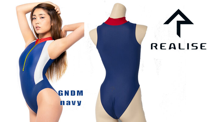 Maillot realise N-0376 Navy Col rouge