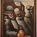Tableaux de l'exposition marcel gromaire au musée paul-valéry de sète (hérault)