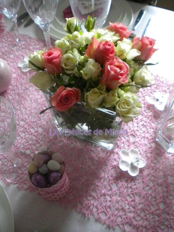Ma table de Pâques très girly en rose 2
