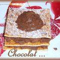 Mille-feuilles menthe et chocolat